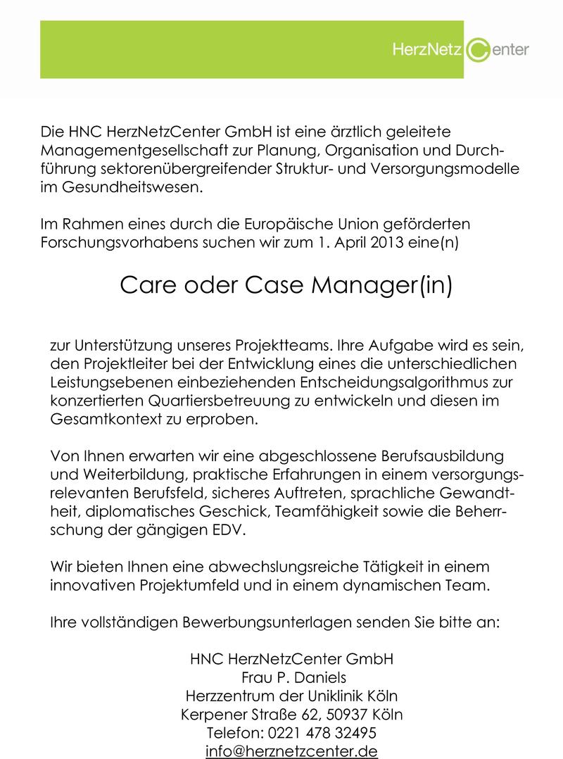 Dorable Versicherungen Case Management Lebenslauf Collection ...