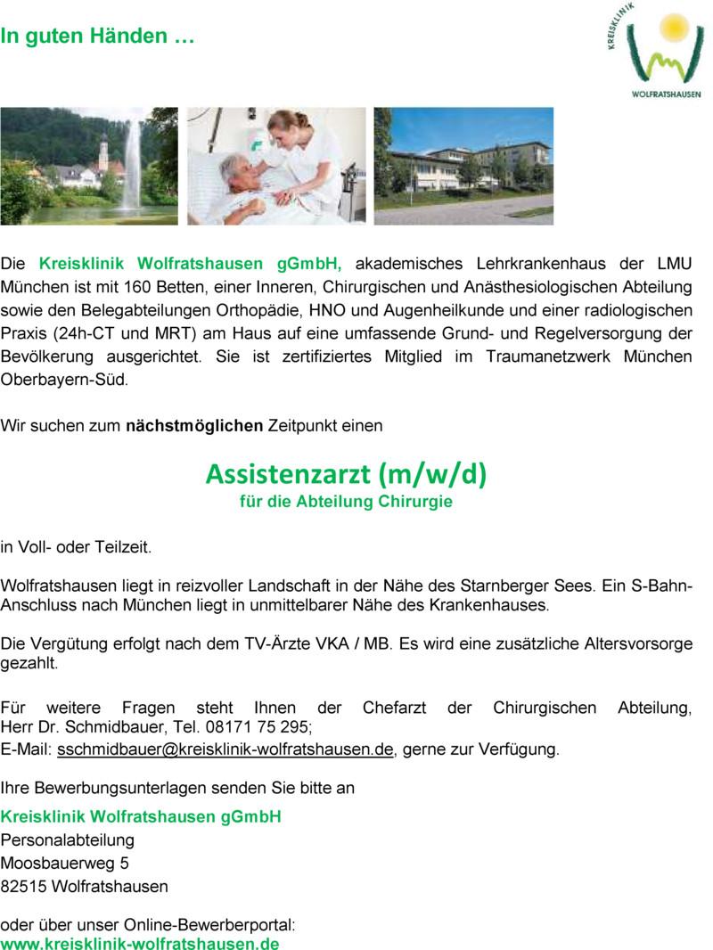 Stellenangebot Atmungstherapeut DGP (m/w) in Wolfratshausen - Job